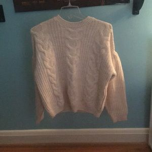 ASOS brand cream cable knit sweater